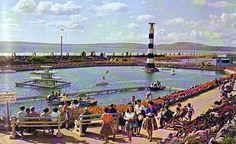 Boating Lake, Aberavon Beach, South Wales. 1960s