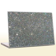 Holographic Silver - Glitter Laptop Skin (extra fine). $40.00, via Etsy.