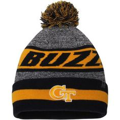 super popular 0efb2 45481 Georgia Tech Yellow Jackets Top of the World Cumulus Cuffed Knit Hat With  Pom Yellow Jackets