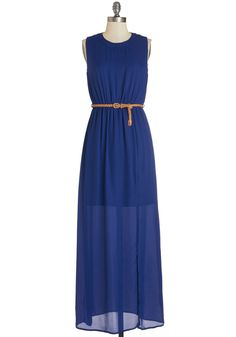 Make a Date of It Dress. Stylishly spontaneous in all that you do, youre treating your sweetie to a romantic evening in this cobalt-blue maxi dress! #blue #modcloth