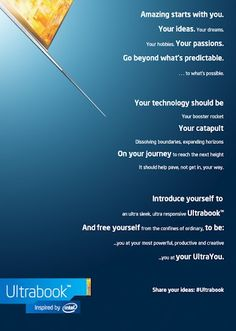 Ultrabook - inspired by you! #intel