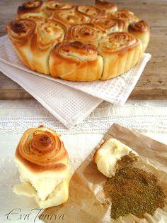 Milinki with cheese - traditional Bulgarian breakfast