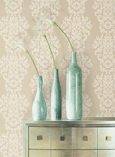 Wallpaper damasc, Vase, decor Wallpaper, Design, Home Decor, Decoration Home, Room Decor, Wallpapers, Home Interior Design, Home Decoration