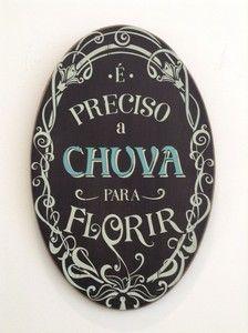 Quadro oval CHUVA
