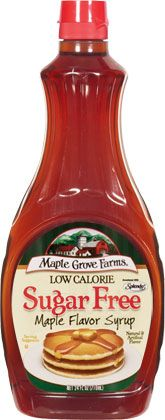 Maple Grove Farms Sugar Free Syrups are great topping options for pancakes and waffles, and can also be used to add a taste of maple sweetness to baked goods, yogurt, ice cream, marinades and more. maplegrove.com #sugarfree #maple #syrup #maplegrovefarms