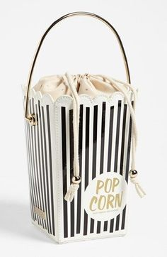 kate spade new york 'cinema city - popcorn' tote. Why Kate Spade is my favorite. This appears sensational? What do you presume? Novelty Bags, Unique Bags, Cute Purses, Cute Bags, Mode Inspiration, Beautiful Bags, My Bags, Purses And Handbags, Handbags Online