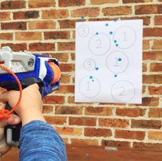 Kids MATH | Simple addition with Nerf guns + Paint + a Target | @oliviasfoster