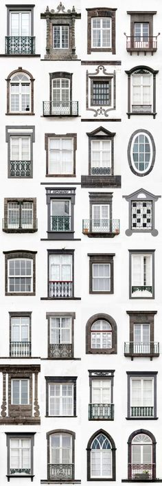 I Travelled All Over Portugal To Photograph Windows, And Captured More Than 3200 Of Them Ponta Delgada. I Traveled All Over Portugal To Photograph Windows, And Captured More Than 3200 Of Them – via BoredPanda Classic Architecture, Facade Architecture, Window Design, Door Design, Facade Design, Exterior Design, Classic House Design, Facade House, Windows And Doors