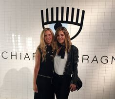 Actresses Giorgia Marin and Elisabetta Pellini at the presentation of the new Chiara Ferragni shoes collection during the Milan Fashion Week, on September 27, 2015 in Milan, Italy.