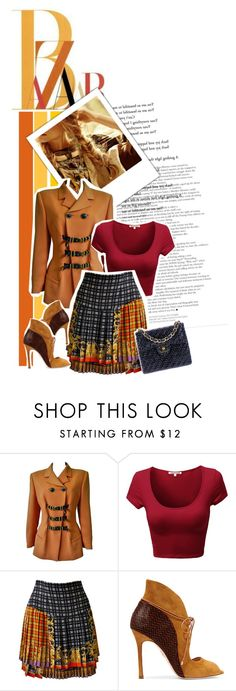 Contest;The cool issue : (fashion of 1992) by lunalobina on Polyvore featuring moda, Versace, Chelsea Paris and Chanel