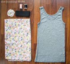 This is all you need to create an Elastic Waist Tank Dress!  Well...pretty much.  Tutorial via thinkingcloset.com
