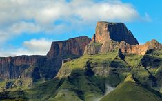 Photo about Sentinel peak in the amphitheater of the Drakensberg mountains, Royal Natal National Park, South Africa. Image of southern, scenic, horizontal - 45508400 Wildlife Safari, Kwazulu Natal, Travel Planner, Amazing Destinations, Vacation Destinations, Travel And Tourism, Beautiful Islands, Drake