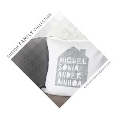 MY HOME AND YOURS CUSTOM FAMILY COLLECTION; Hand printed custom cushions, unique and personal christmas gifts  #christmasgifts #gifts #giftideas #giftsforwomen #giftsforhim #giftsforher #giftsformum #giftsfordad #giftsforgrandma