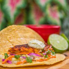 How To Make Taco Recipe : Blackened Tilapia Tacos with Jicama Coleslaw and Avocado Aioli