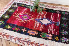 Vintage Moroccan Boucherouite Rug The Paloma Rag by LoomAndField