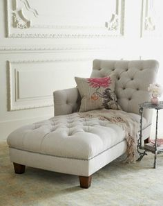 Tufted Chaise - for my dream walk in closet room