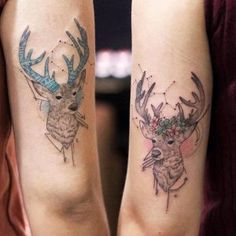 Matching stags by Justice Ink