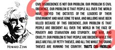 Zinn on Civil Disobedience: ripped from r/Anarchism, and was probably ripped elsewhere, but fuck it.