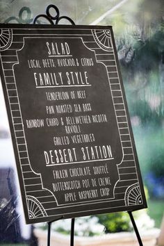 Cute Detail Overload In This California Wedding from Arrowood Photography - wedding menu card idea