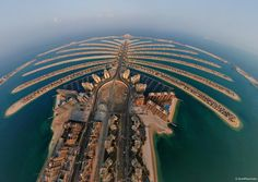 The Palm Jumeirah is an artificial archipelago created using land reclamation by Nakheel, a company owned by the Dubai government in United Arab Emirates and was designed and developed by HHCP architects.