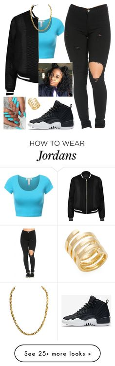 """""""Turquoise Sqaud!!!😏"""" by kitty900 on Polyvore featuring River Island, NIKE and Jennifer Zeuner"""