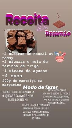 Gourmet Candy, Cooking, Desserts, Delivery, Healthy Juice Recipes, Tasty Food Recipes, Delicious Recipes, Yummy Recipes, Simple Brownie Recipe