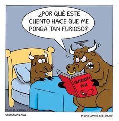 caperucita roja pone furiosos a los toros . Más #humor en www.lasfotosmasgraciosas.com