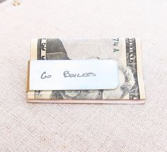ACTUAL Handwriting Money Clip -  Personalized Money Clip  - Father's Day Gift - Memorial Gift by emilyjdesign on Etsy