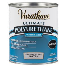 Varathane 1 qt. Clear Satin Water-Based Interior Polyurethane (2 Pack)