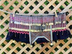 Womens Vintage Hmong Ornate Beaded Skirt by SiameseDreamDesign, $82.00