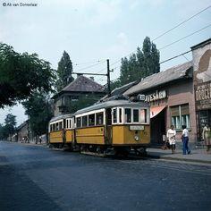 járt ez a villamos Utca, Commercial Vehicle, Budapest Hungary, Old Photos, Flag, Marvel, Train, History, Vehicles