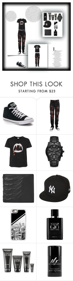 """""""Š.K :*"""" by seherzada-631 ❤ liked on Polyvore featuring Converse, Yves Saint Laurent, Michael Kors, Alexander McQueen, New Era, Casetify, Giorgio Armani, Clinique, Burberry and men's fashion"""
