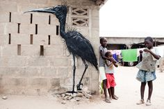 Wide Open Wall - art project in The Gambia, West Africa