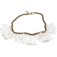 NICOLE ROMANO Lucite and gold necklace