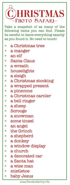 Christmas Photo Safari {free printables}