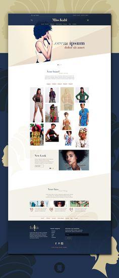 Fullpage kabi web Portfolio Web Design, New Look