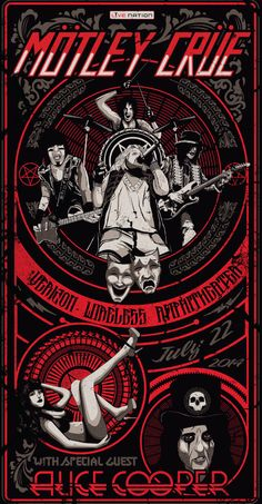 Motley Crue Gig Poster on Behance