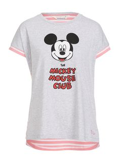 Mickey Mouse Club Stripe Back Tee | Peter Alexander