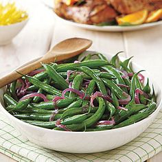 MyRecipes recommends that you make this Green Bean Salad with Melted Red Onions recipe from All You