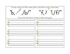 Letter ID, Sound ID, and Handwriting Packet to accompany the Wilson Fundations program $