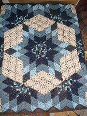 Prairie Star afghan pattern ex Crochet Quilt Pattern, Crochet Bedspread, Crochet Blocks, Crochet Squares, Baby Blanket Crochet, Crochet Doilies, Crochet Blankets, Star Quilt Patterns, Square Patterns