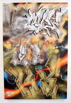 Canvas- Marker, Acryl Spray Paint - 80 cm x 120 cmDas Bild wird nicht per Post verschickt und muss in Zürich abgeholt werden.CruzeCruze ist Graffiti-Writer durch und durch. Dabei gehören Letters und Characters gleichermassen in sein Repertoire und in beiden Disziplinen hat er sich einen unverkennbaren Style erarbeitet. Weit über die Landesgrenzen hinaus vernetzt, malt Cruze, wann immer sich eine Gelegenhei... Marker, Graffiti, Poster, Markers, Billboard, Graffiti Artwork, Street Art Graffiti