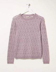 Buy Pale Iris Pointelle Jumper today from FatFace. FREE UK Delivery on all orders over £50. Fat Face, Free Uk, Iris, Knitwear, Jumper, Delivery, Pullover, Natural, Fitness
