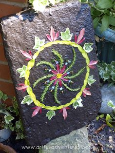 "Artful Kid: Land Art in the Spring. plant material & a mud covered board for support ("",). Connect with nature. Discover the beauty in everyday. Land Art, Spring Pictures, Spring Art, Environmental Art, Nature Crafts, Outdoor Art, Art Activities, Garden Art, Garden Tiles"