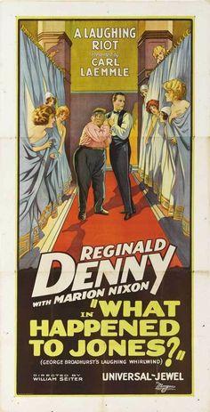 SEE RANK What Happened to Jones (1926) 70 min - Comedy - 8 February 1926 (USA)