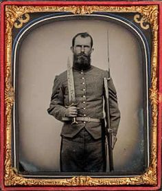 Confederate Sergeant, Standing, with Large Bowie Knife and Rifle with Bayonet, (Metropolitan Museum of Art/David Wynn Vaughan Collection) Louis Daguerre, Confederate States Of America, America Civil War, Civil War Books, Civil War Photos, Us History, American History, Le Far West, Metropolitan Museum