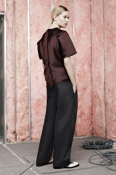 Mohawk fringe down the back? Don't mind if I do.  Alexander Wang | Pre-Fall 2014 Collection | Style.com