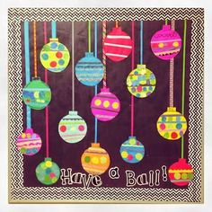 First Grade Blue Skies: Christmas Crafts in the Classroom: Easy Bulletin Board