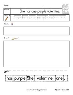 Happy Valentines Day! Handwriting practice is a sweet treat while your students write their color and number words. Students will read, write, re-a...