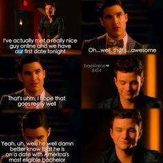 """#Glee 6x04 """"The Hurt Locker, Part One"""" - Blaine and Kurt"""